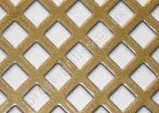 Diamond Hole 10mm Gold Grille Powder Coated Steel Sheet 1000mm x 660mm x 1mm