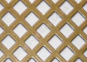 Diamond Hole 10mm Gold Grille Powder Coated Steel Sheet 2000mm x 1000mm x 1mm