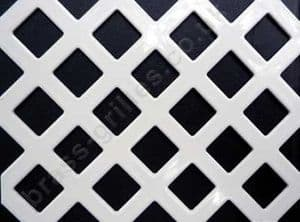 Diamond Hole 10mm White Grille Powder Coated Steel Decorative Sheet 1000mm x 660mm x 1mm