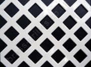 Diamond Hole 10mm White Grille Powder Coated Steel Decorative Sheet 2000mm x 1000mm x 1mm