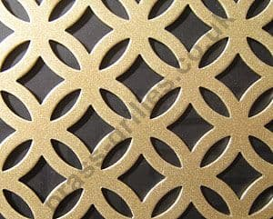 Inner Circular Gold Grille Powder Coated Steel Sheet 1000mm x 660mm x 1mm