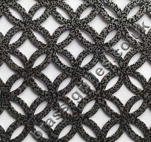 Inner Circular Pewter Grille Powder Coated Steel Sheet 1000mm x 660mm x 1mm