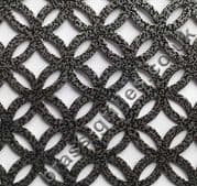 Inner Circular Pewter Grille Powder Coated Steel Sheet 2000mm x 1000mm x 1mm