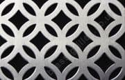 Inner Circular Silver Decorative Grille Anodised Aluminium Sheet 2000mm x 1000mm x 1mm