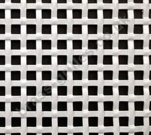 Interwoven Effect Square White Grille Powder Coated Aluminium Sheet 2000mm x 1000mm x 1.5mm