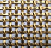 Interwoven Square Effect Bronze Grille Anodised Aluminium Sheet 2000mm x 1000mm x 1.5mm