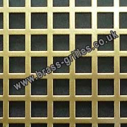 Large Squares 10mm Gold Grille Powder Coated Steel Sheet 1000mm x 660mm x 1mm