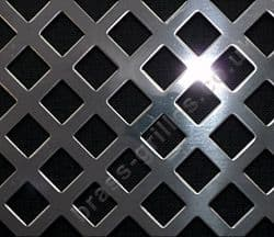 Nevada Diamond Hole 10mm Grille Polished Stainless Steel Sheet 2000mm x 1000mm x 1mm