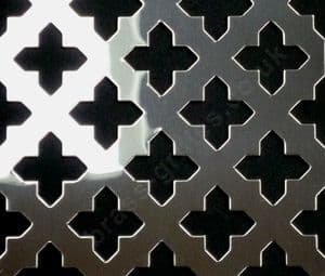 Oregon Cross 28mm Grille Polished Stainless Steel Sheet 1000mm x 660mm x 1mm