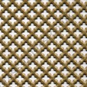 Small Club 6mm Gold Grille Powder Coated Steel Sheet 1000mm x 660mm x 1mm