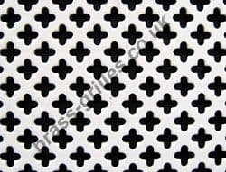 Small Club 6mm White Grille Powder Coated Steel Decorative Sheet 2000mm x 1000mm x 1mm