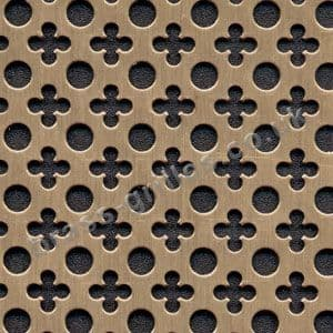 Small Clubs and Holes Bronze Grille Anodised Aluminium Sheet 1000mm x 660mm x 1mm