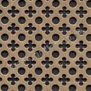 Small Clubs and Holes Bronze Grille Anodised Aluminium Sheet 2000mm x 1000mm x 1mm