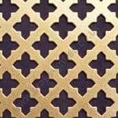 Small Cross 16 Gold Grille Powder Coated Steel Sheet 1000mm x 660mm x 1mm