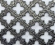 Small Cross 16 Pewter Grille Powder Coated Steel Sheet 2000mm x 1000mm x 1mm