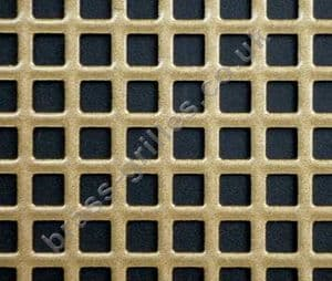 Small Squares 6mm Gold Grille Powder Coated Steel Sheet 1000mm x 660mm x 1mm