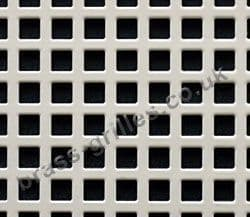 Small Squares 6mm White Grille Powder Coated Steel Decorative Sheet 1000mm x 660mm x 1mm