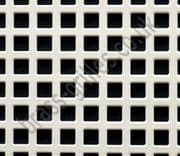 Small Squares 6mm White Grille Powder Coated Steel Decorative Sheet 2000mm x 1000mm x 1mm