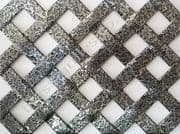 Woven Effect Diamond Pewter Grille Powder Coated Aluminium Sheet 2000mm x 1000mm x 2mm