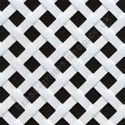 Woven Effect Diamond White Grille Powder Coated Aluminium Sheet 2000mm x 1000mm x 2mm