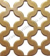 Chain Link Gold Grille Powder Coated Steel Sheet 660mm x 1000mm x 2mm