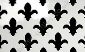 Fleur De Lys 28mm White Grille Powder Coated Steel Decorative Sheet 660mm x 1000mm x 1mm
