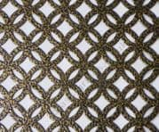 Inner Circular Old Gold Grille Powder Coated Steel Sheet 1000mm x 660mm x 1mm