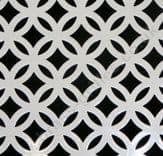 Inner Circular White Powder Coated Steel Grille Sheet 2000mm x 1000mm x 1mm