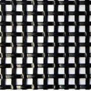 Interwoven Effect Square Decorative Grille Powder Coated Black Aluminium 2000mm x 1000mm x 1.5mm