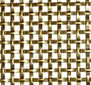 Interwoven Square Effect Gold Grille Anodised Aluminium Sheet 1000mm x 660mm x 1.5mm