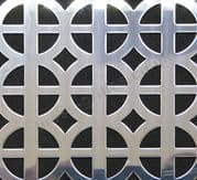 Ohio Polished Stainless Steel Decorative Grille Sheet 1000mm x 660mm x 1mm