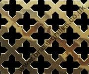 Polished Brass Grille 23mm Cross Perforated Sheet 1000mm x 660mm x 0.7mm