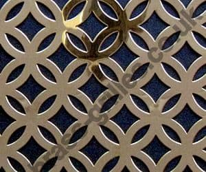 Polished Brass Grille Inner Circular Perforated Sheet 2000mm x 1000mm x 0.7mm