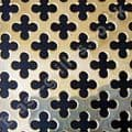 Polished Brass Grille Medium Club Perforated Sheet 1000mm x 660mm x 0.7mm