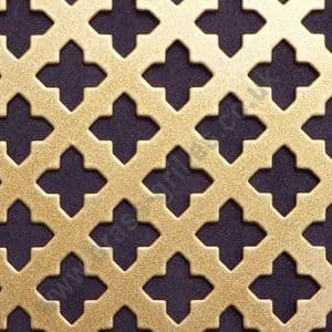 Small Cross 16 Gold Grille Powder Coated Steel Sheet 2000mm x 1000mm x 1mm