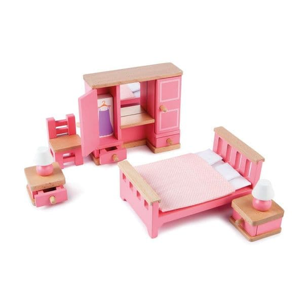 9 piece Tidlo dolls house bedroom set. Age 3 +