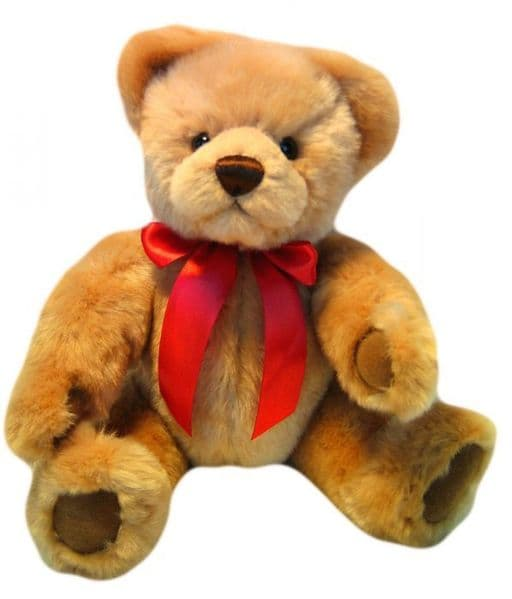 Dennis, gold jointed  32cm plush bear by Clemens