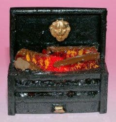 Glow Well Miniature Log Fire. Dollshouse Miniature FPG000