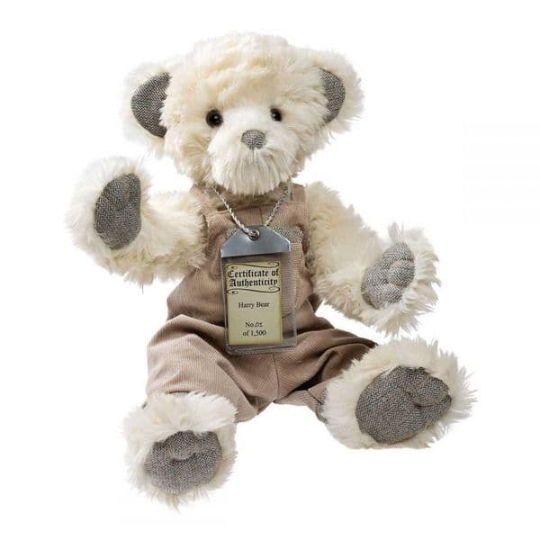Harry, limited edition  white Silver Tag bear.