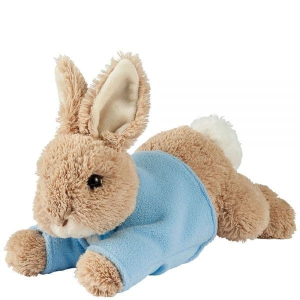 Peter Rabbit, laying plush rabbit by Gund.