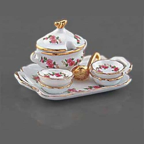 Reutter, Dolls House soup tureen set, Lisa design. ( 1.647/8)