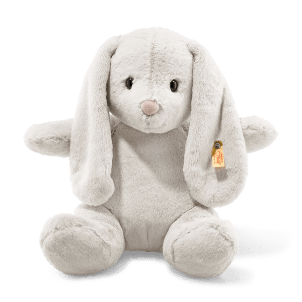 Soft and cuddly grey Hoppie Bunny. 38 cm. Steiff  080487