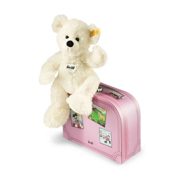 Steiff Teddy Bear Lotte in Suitcase, 28 cm.  111563.