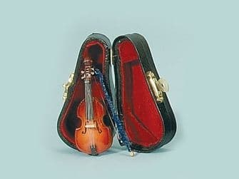 Violin and case for 12th scale dolls house. 149