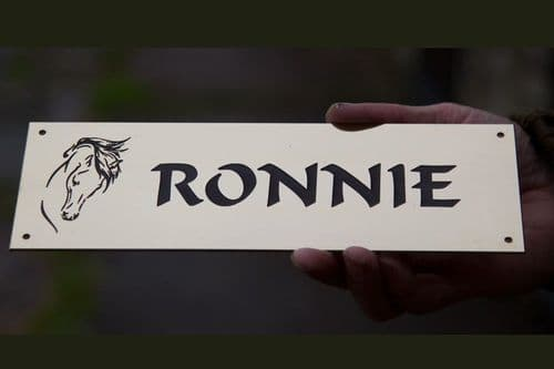 Engraved Brass Horse Name Plate | The Sign Maker Shop