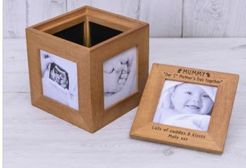 1st Mothers Day Oak Photo Box