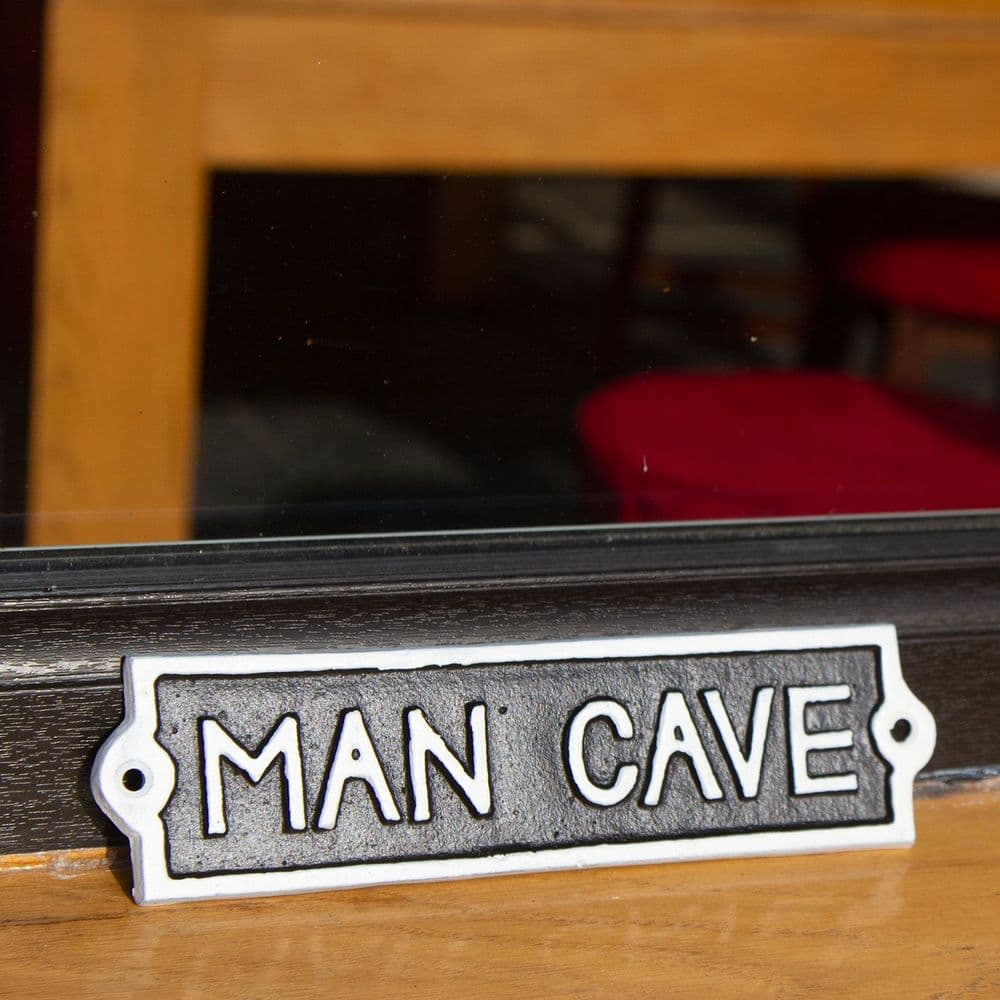 Cast Iron Man Cave Signs