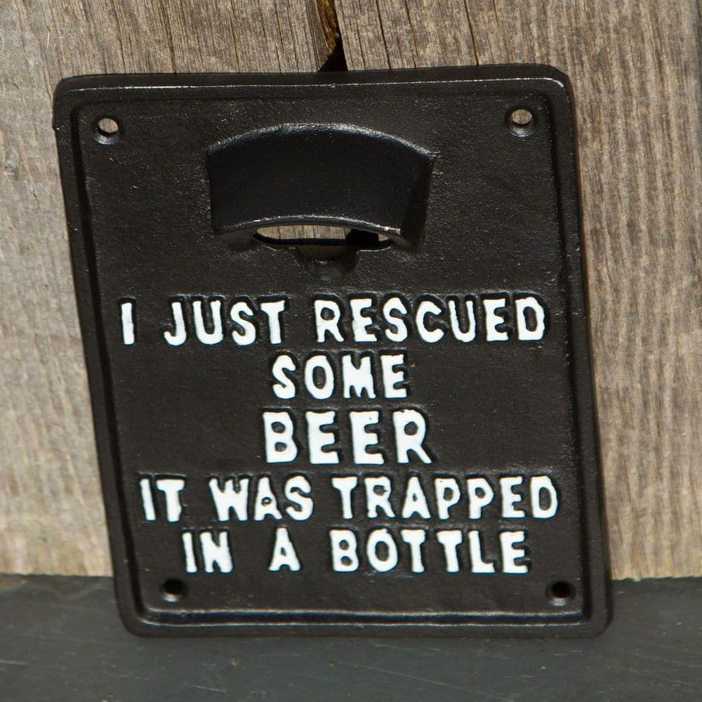 Cast Iron Trapped Beer Bottle Opener
