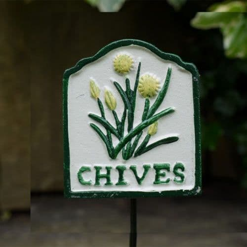 Cast Metal Chives Sign