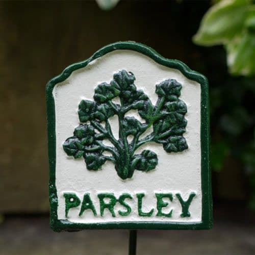 Cast Metal Parsley Sign